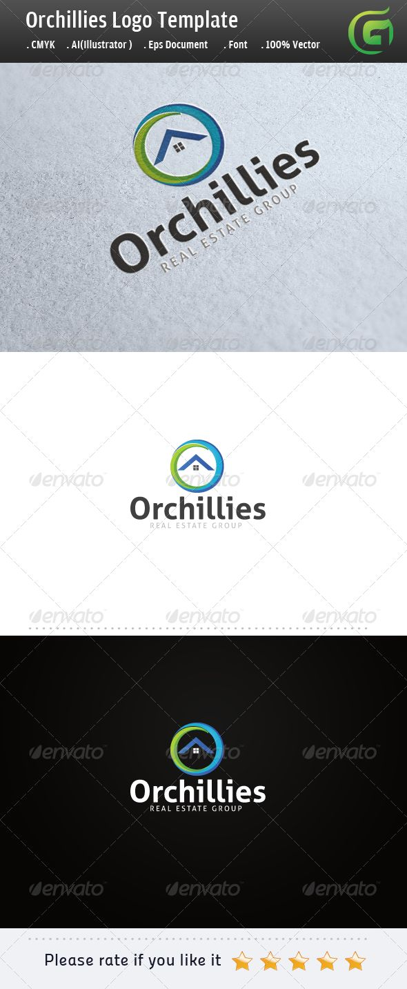Logo for sale Orchilllies Real Estate Logo