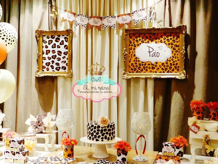 Animal print Birthday Party Ideas | Photo 1 of 18 | Catch My Party