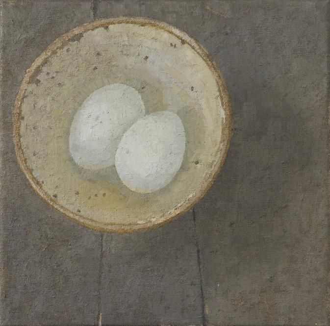 Sarah Gillespie. Duck Eggs. Oil Paintings.