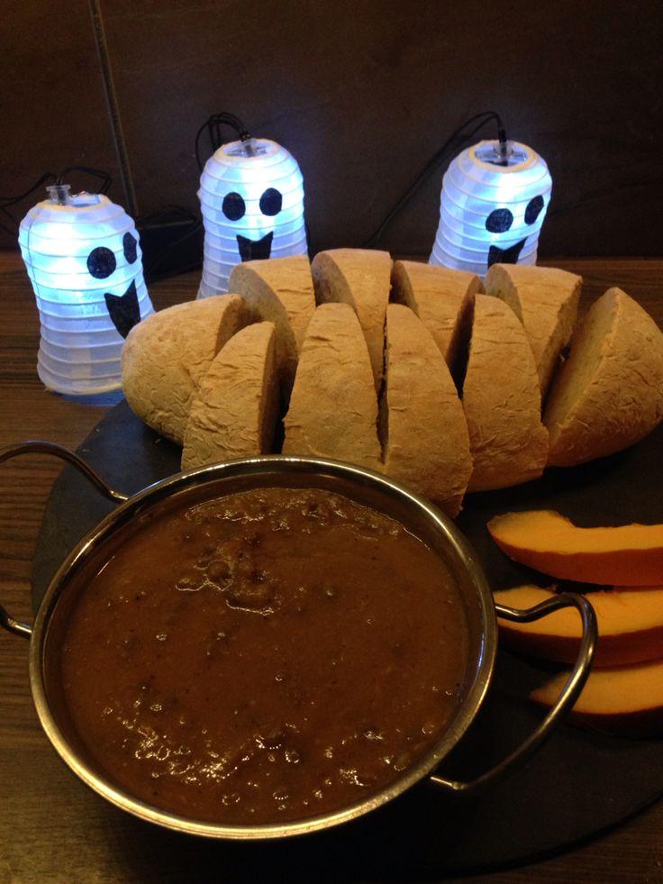 Witches Broth! Pumpkin & Lentil soup.