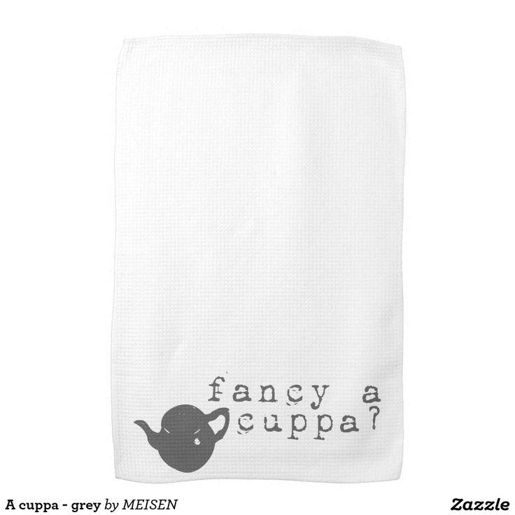 A cuppa - grey kitchen towels