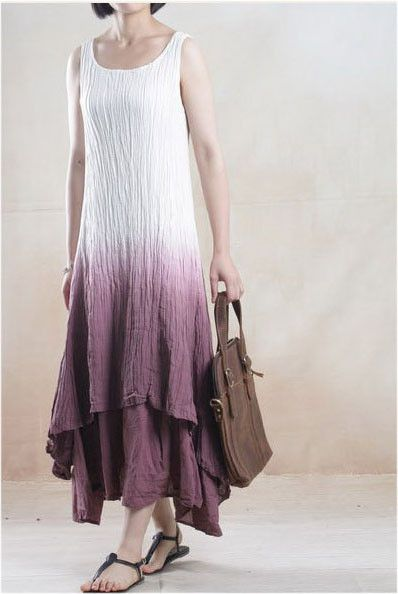 Linen Dress in Red Great for attending an outdoor wedding!