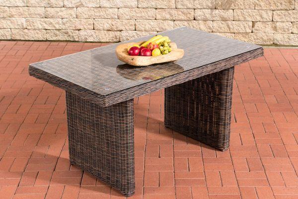 Esstisch La Gomera 140 Klarglas Braun Meliert Esstisch Tisch Kuche Esszimmer