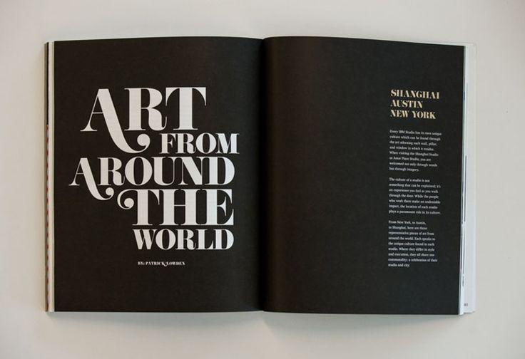 IBM Magazine: All Things X – Volume 2 #PRINT #layout #typography #headline #maga…