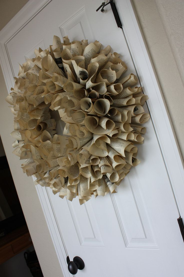 book page wreath...on my DIY to-do list!