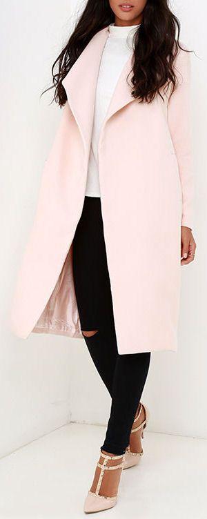 Blush Trench Coat ❤︎