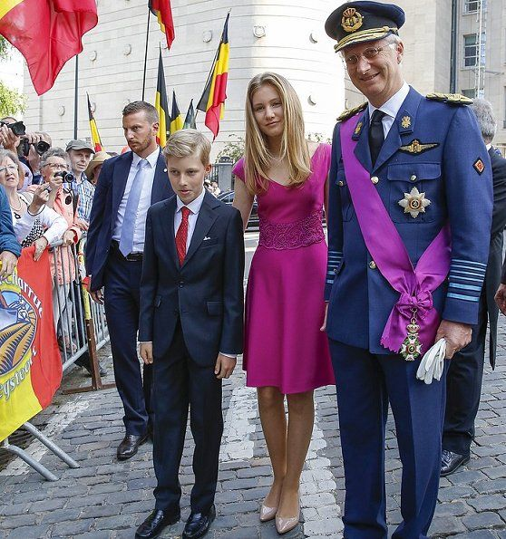 Newmyroyals: Belgium National Day, Te Deum, July 21, 2017-Princess Elisabeth, Prince Emmanuél, King Philippe