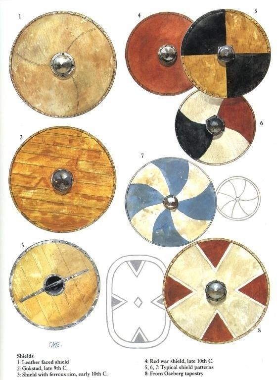 Viking/Norse Shields, 9th-10th century. Read article at: http://www.whattravelwriterssay.com/vikingaheimarkeenan.html