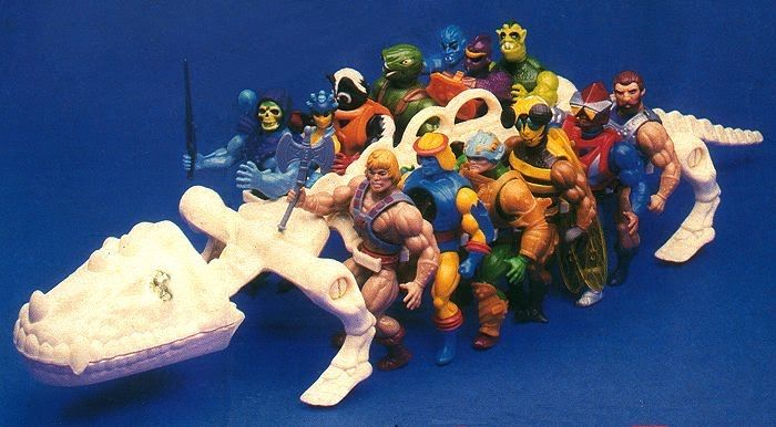 The Battle Bones, an ossiferous carrying case for He-Man and the Masters of the Universe action figures