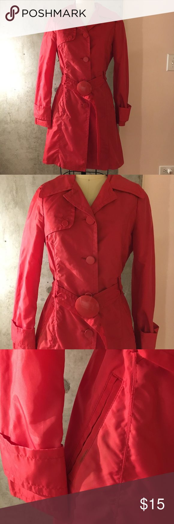 Mango Red Trench Coat Mango Red Trench Coat Mango Jackets & Coats Trench Coats