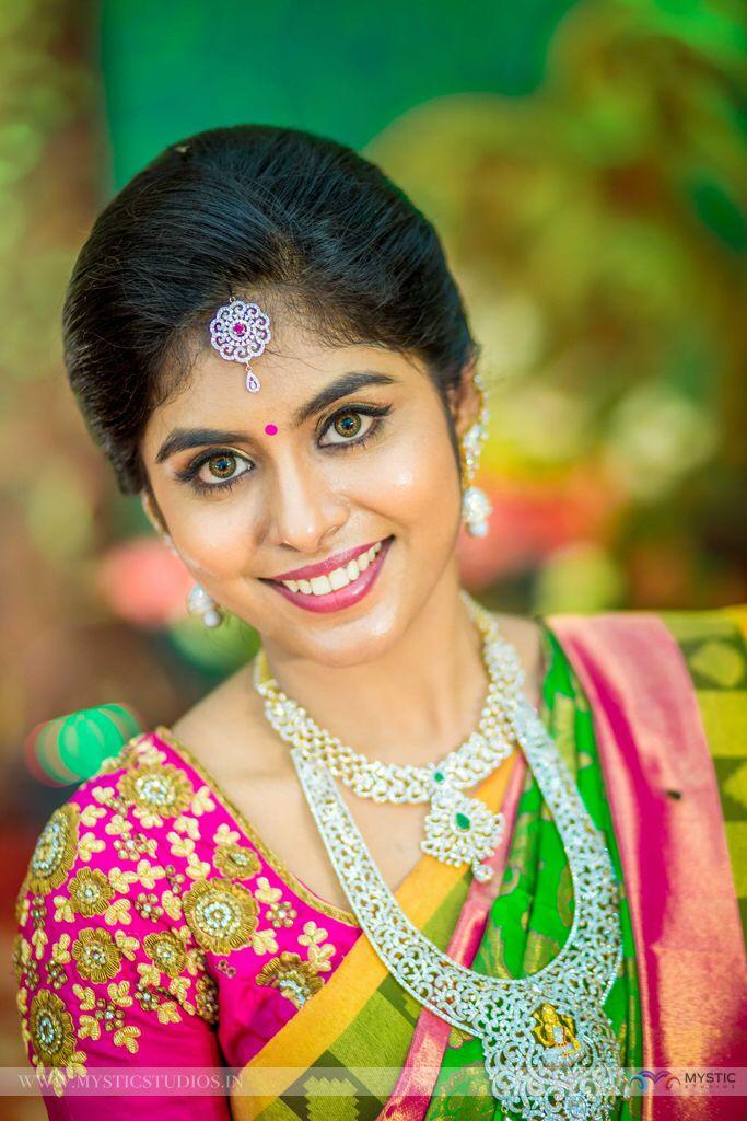 beauty of bride.......!@!@ wonderful make over for wedding bride.....!@!@ #weddingmakeover #covaiweddingshoppers
