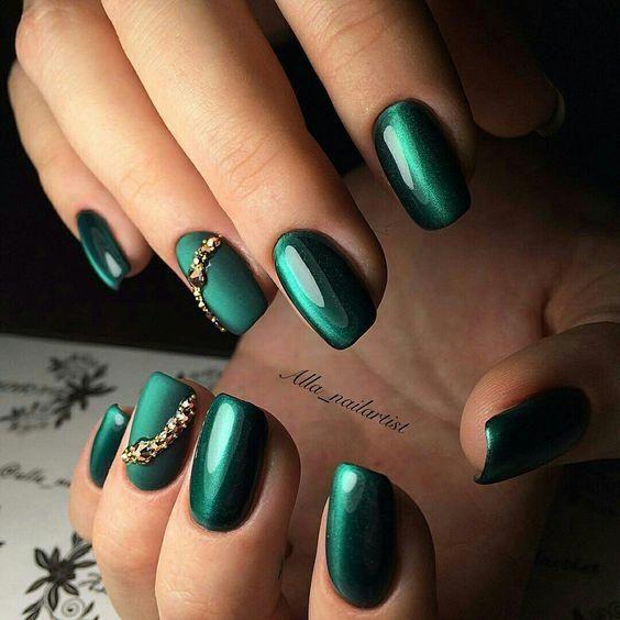 Trendy Green Nails Ideas 2018 #grünhaar