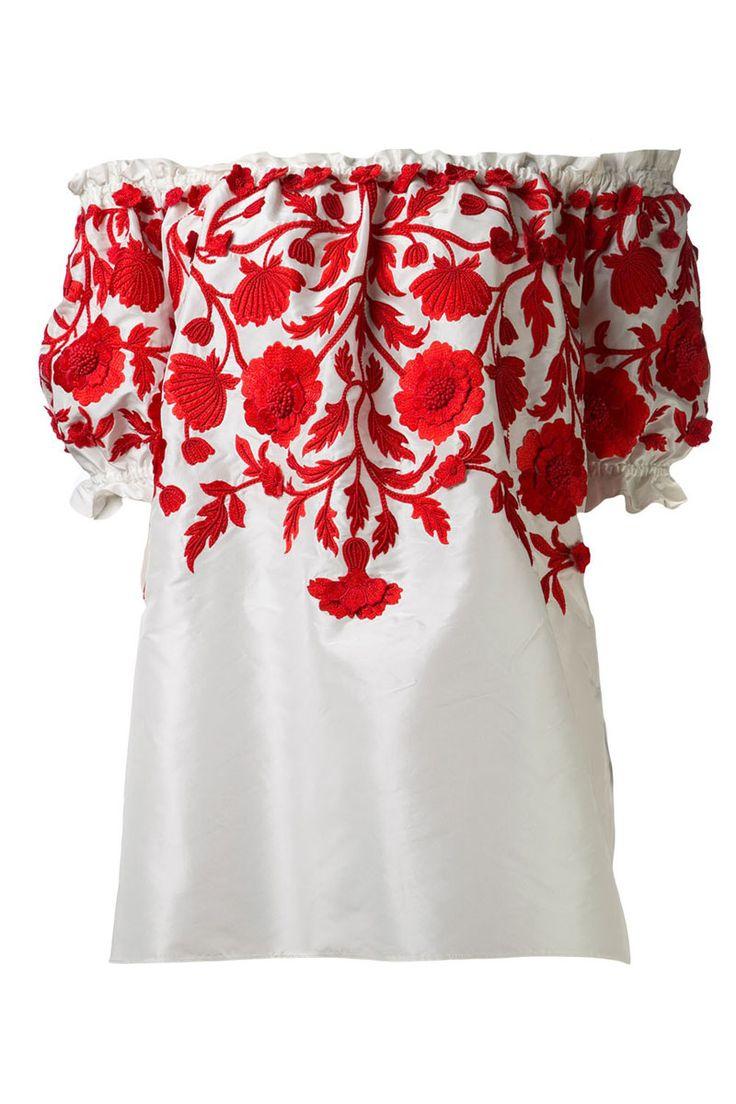 Naeem Khan Embroidered Peasant Blouse, $2,690; farfetch.com   - ELLE.com