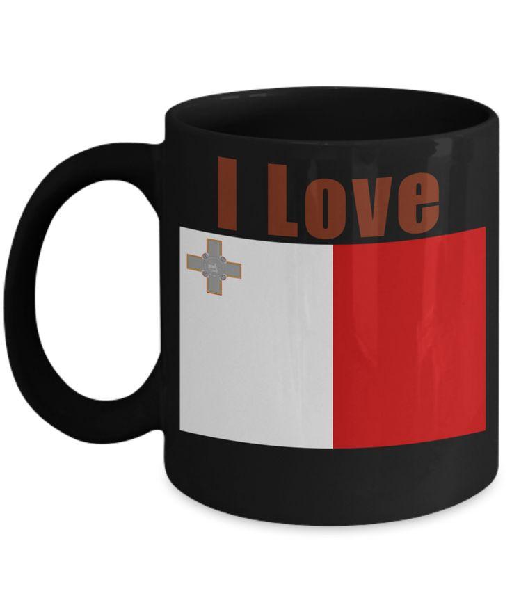 I Love Malta Coffee Mug With A Flag