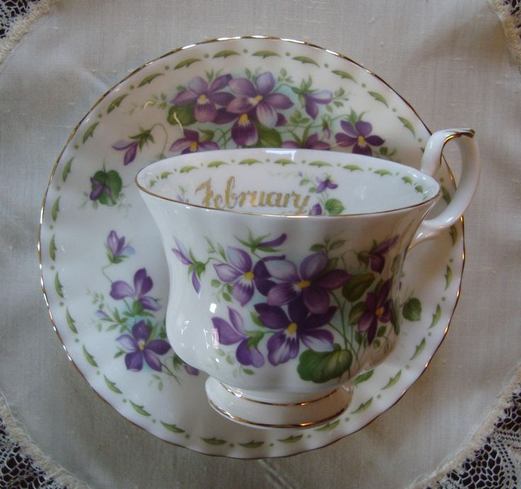 662 best offtheshelf2015 images on pinterest small businesses royal albert flower of the month series february violets bone china england vintage tea cup and saucer fandeluxe Images
