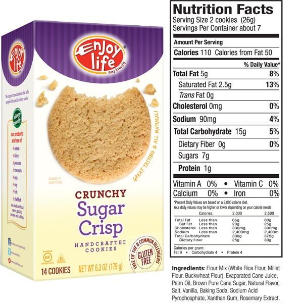 Sugar Crisp Crunchy Cookies - gluten free, soy free, dairy free, nut free, casein free