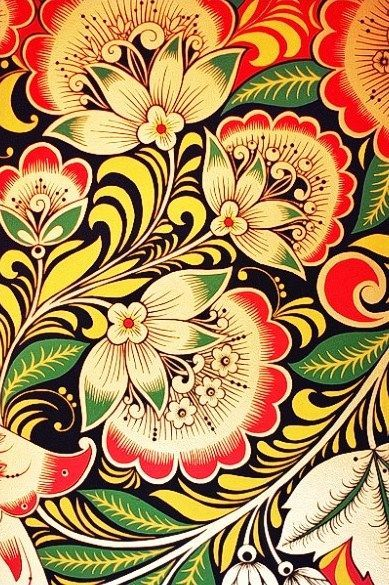 Khokhloma Russian Folk Art - Google Search