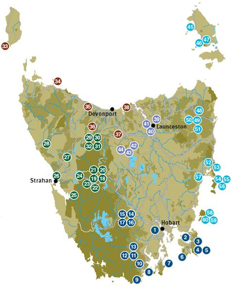 60 Great Short Walks Tasmania Australia - National Parks and World Heritage Sites