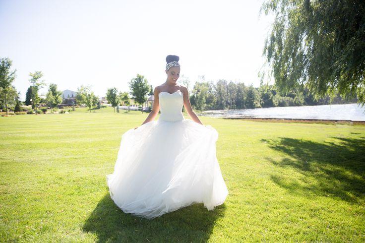 """Royal Ambassador bride wearing Vera Wang """"Laura"""" gown"""