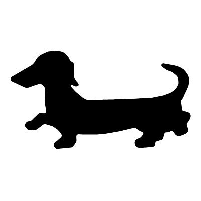 Dachshund Template | Dachshund Silhouette | Sihouette Templates/Instruction