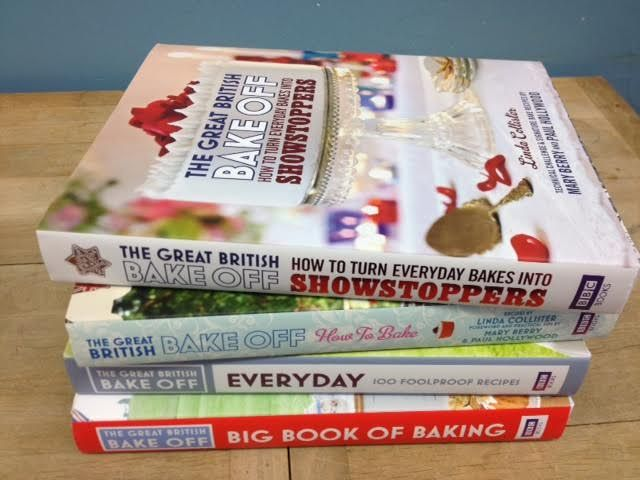 We have the most gorgeous cookbooks from The Great British Bake Off.