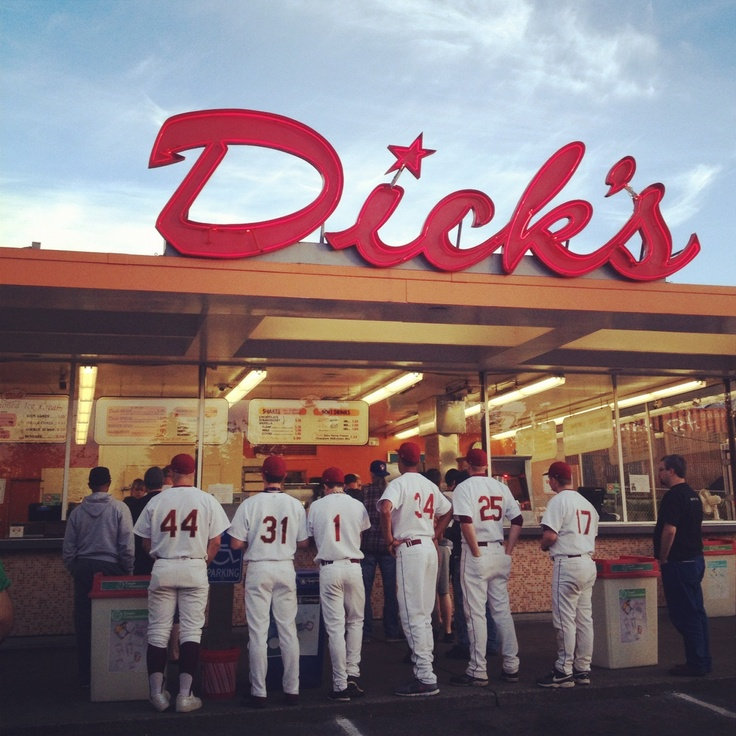 Dinner at Dick's - the quintessential American scene. Photo by Bond Huberman
