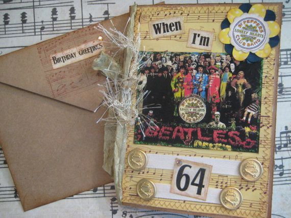 Beatles Birthday Card When I'm 64 Sgt. Pepper's by FabFourYou