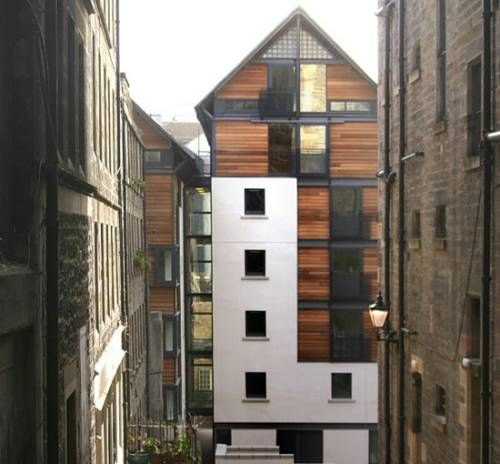 Housing at Old Fishmarket Close, Royal Mile by Richard Murphy Architects