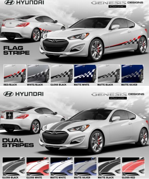 Nice You Can Now Get Graphics On Your #Hyundai Genesis Coupe. Thanks