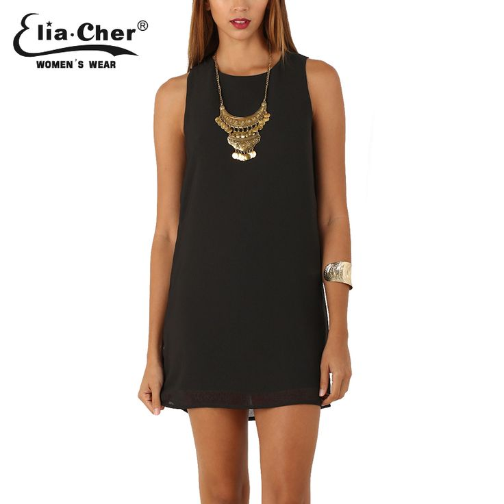 Elia-Cher Brand Causal Women Straight Cut Evening / Party Chiffon Dress //Price: $30.78 & FREE Shipping //     #hashtag4