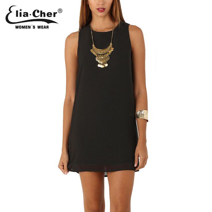 Elia-Cher Brand Causal Women Straight Cut Evening / Party Chiffon Dress //Price: $33.59 & FREE Shipping //     #hashtag3