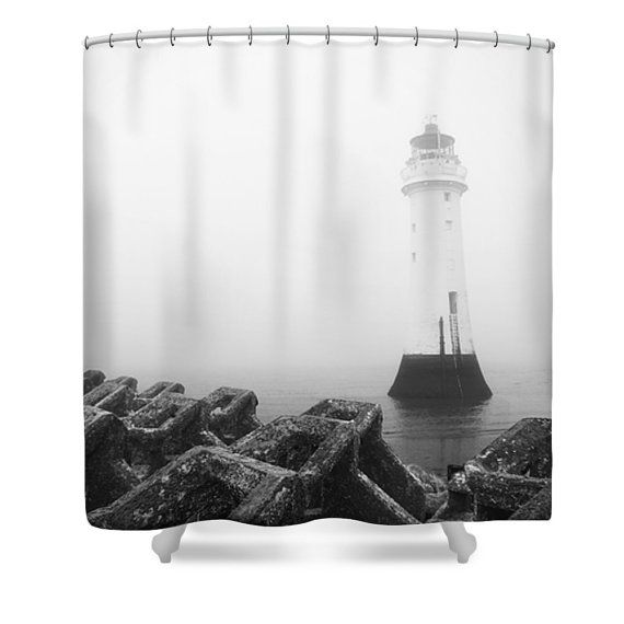lighthouse shower curtain lighthouse bathroom decor black and white nautical shower curtain traditional photo shower curtain bath mat