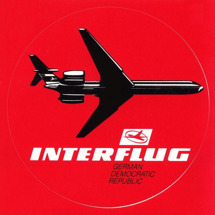 Poster der Interflug ---- #INTERFLUG - Airline of the GDR - #DDR  #GDR