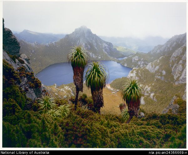Lake Oberon in the Western Arthur Range, Tasmania by renowned photographer Peter Dombrovskis.