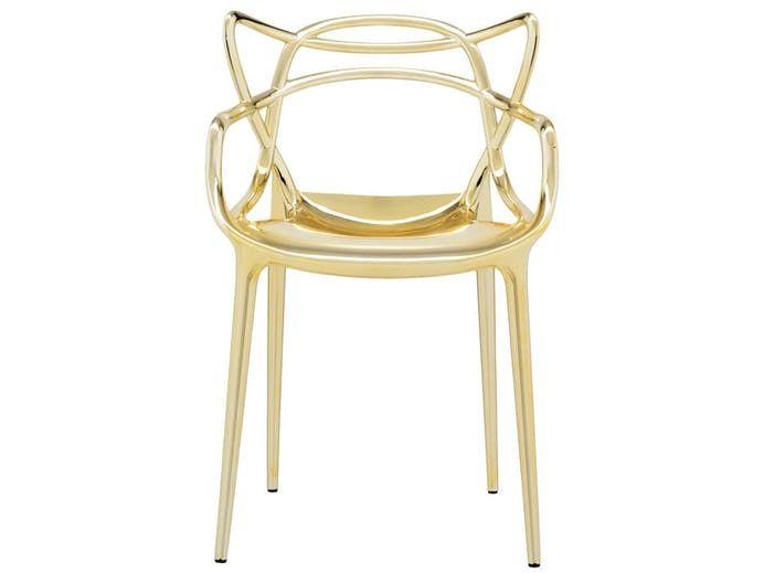Krzesło Masters I złote Kartell