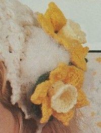 free daffodil flower crochet pattern