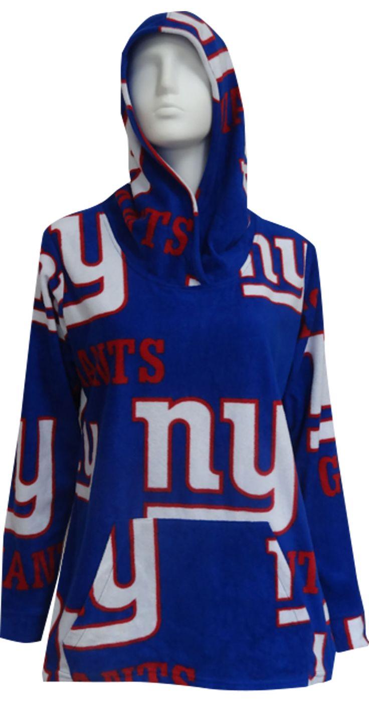 WebUndies.com New York Giants Fleece Pullover Hoodie for Women