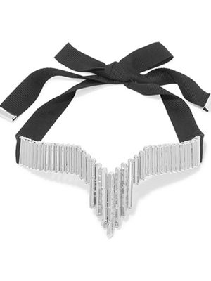 Eddie Borgo – rhodium-plated cubic zirconia choker, choker, necklace, accessories.