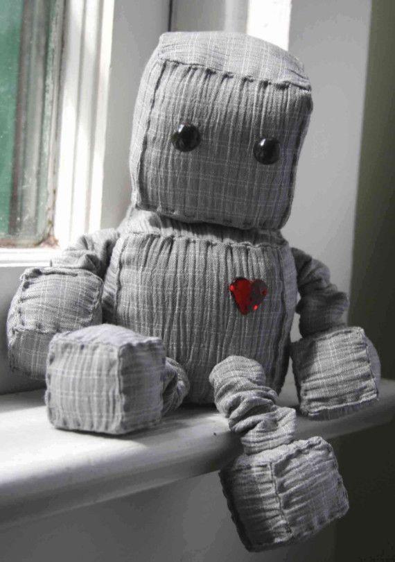 Ruby Robot by Littlebrownbyrd on Etsy