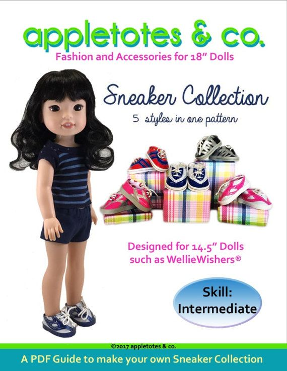 Pixie Faire Appletotes and Co. Sneaker Collection Doll Clothes