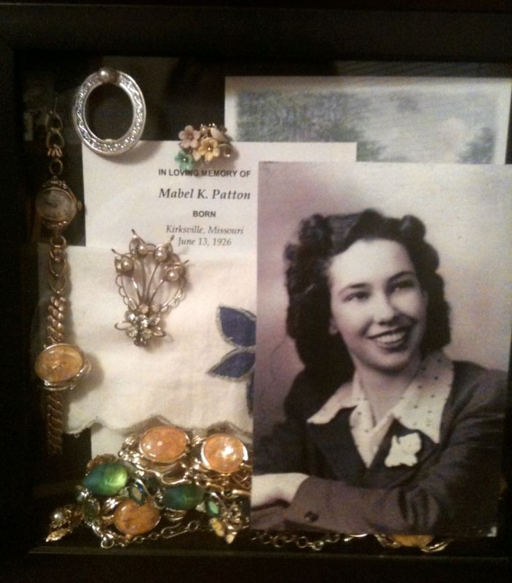 Memory shadow box for grandma ❤