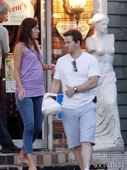 Mark Wahlberg and wife Rhea Durham enjoy romantic dinner at Vincent's Italian Cuisine in New Orleans. June 28, 2012.