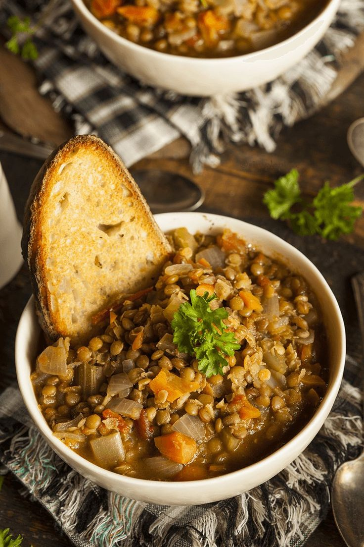 This Zuppa di Lenticchie (Italian Lentil Soup) is an ideal winter dinner.An easy dish to throw together, and is hearty enough to make a full meal.