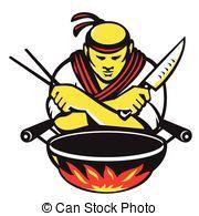 Clip Art Vector van chef-japanese-knife-wok-chopsticks - Vector, illustratie,... csp24676463 - Zoek naar Clipart, Illustratie, Tekeningen en EPS Vector Grafieken Beelden