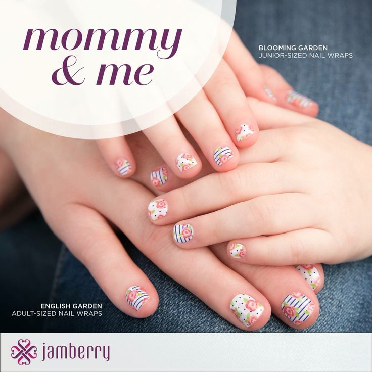 Jamberry Juniors! Fun, easy to apply, and long lasting nail wraps for tiny hands! Because what little girl has time to sit still waiting for her polish to dry?! Shop at Ladisa.jamberry.com