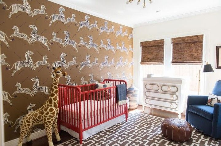 Our Beverly Dresser And This Scalamandre Zebra Wallpaper