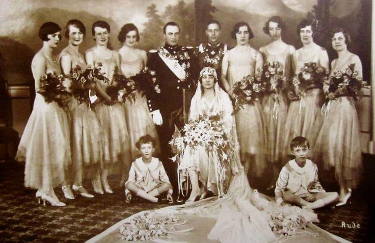 Oslo Domkirken 1929. Bryllup kronnprins Olav og Märtha Foto: Rude