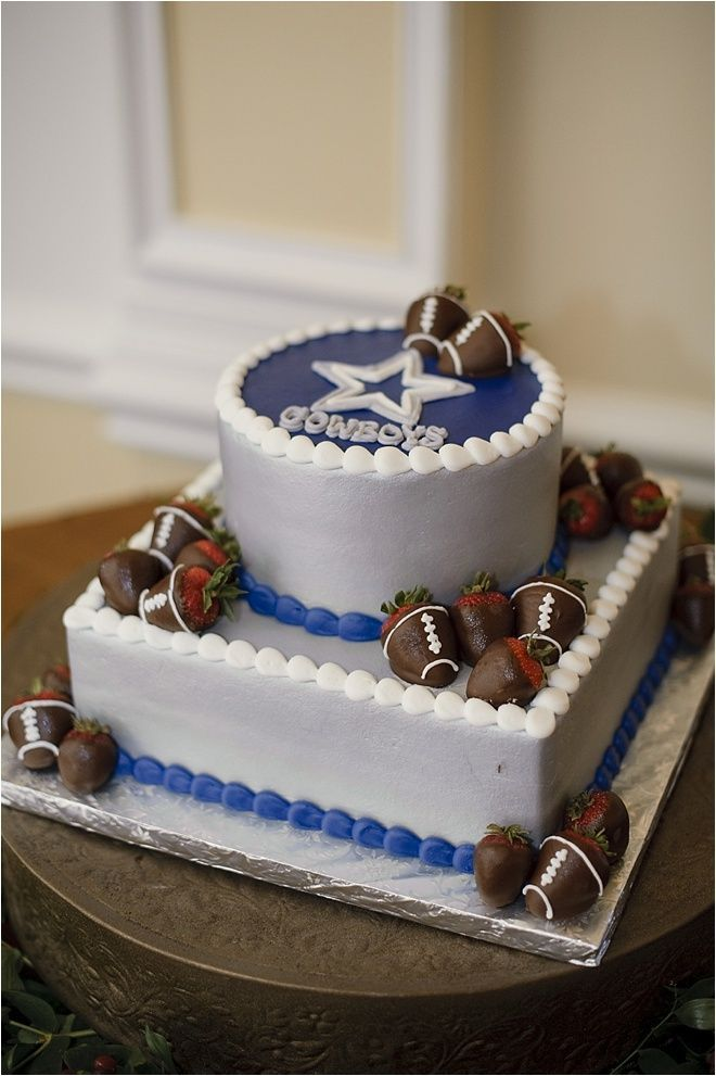 Groom Cake Ideas ~ Football Groom Cake Ideas ~ Dallas Cowboys Groom Cake ~ Photo: Alyse French Photography