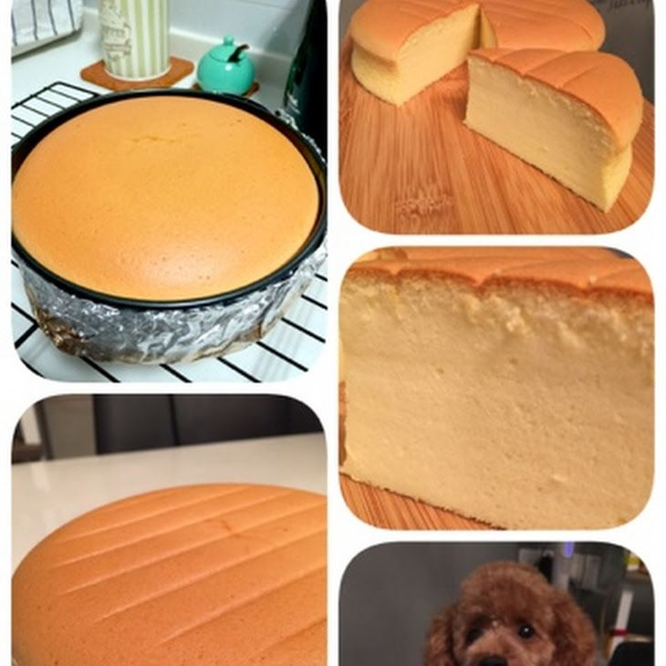 Condensed Milk Cheese Cake Recipe Desserts with egg yolks, eggs, condensed milk, plain flour, cream cheese, canola oil, lemon juice, egg whites, sugar, lemon juice