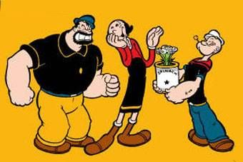 Popeye (1980): The sailor man travels to Sweethaven, falls in love with Olive Oyl, adopts Sweetpea and makes an enemy with Bluto. Description from pinterest.com. I searched for this on bing.com/images